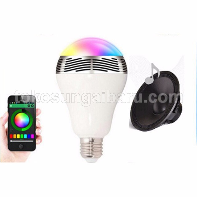 Bohlam LED RGB E27 dengan Bluetooth Speaker