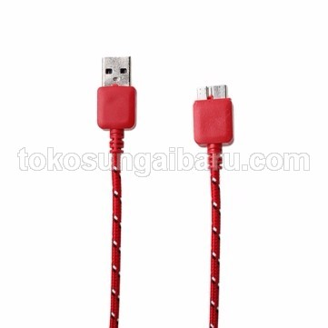 Taffware Kabel Data USB 3.0 ke Micro USB3.0 Braided