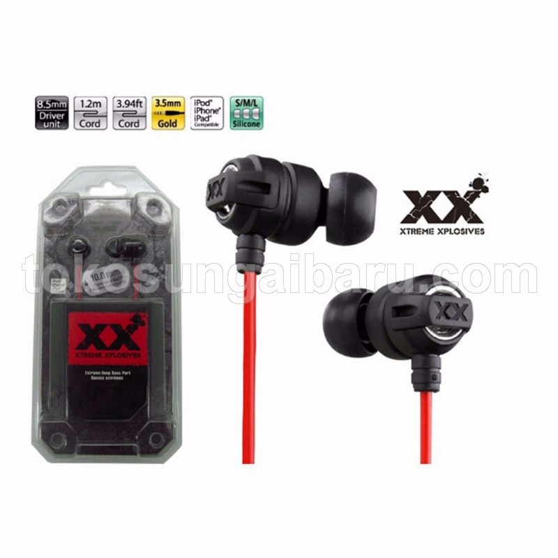 Extreme Xplosives Super Deep Bass Earphones - HA-FX1X