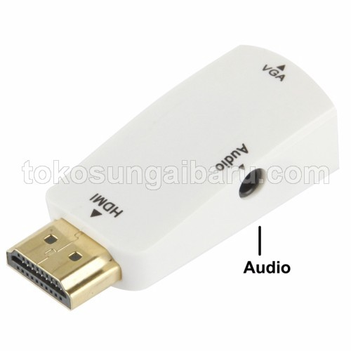 Adapter HDMI ke VGA & AUX 1080P