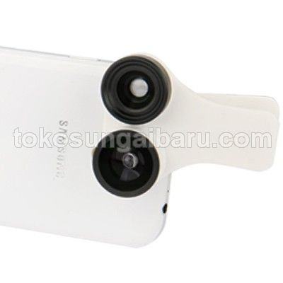 Universal 3 in 1 Lensa Macro Wide Fish Eye untuk Smartphone