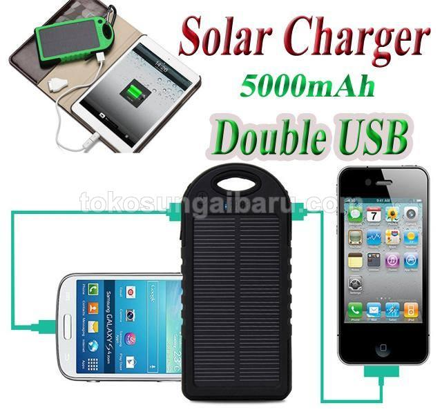 Powerbank tenaga surya / solar cell