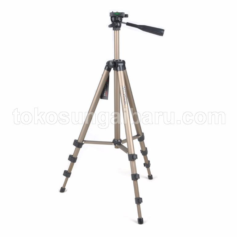 Weifeng Portable Lightweight Tripod Stand 4-Section Aluminum Legs with Brace - WT-3130 - Chocolate