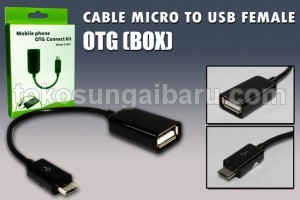 CABLE MICRO TO USB FEMALE OTG BOX