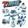 7 in 1 Transforming Space Fleet Solar Robot Science & Education DIY Toys Kids