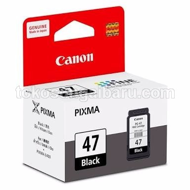 Cartridge Canon PG47 Black / Hitam untuk Printer Canon E400 & E460