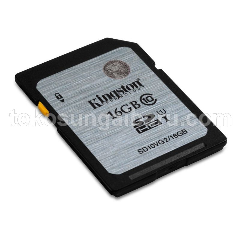 Kingston SDHC Class 10 UHS-I (45MB/s) 16GB - SD10VG2/16GB