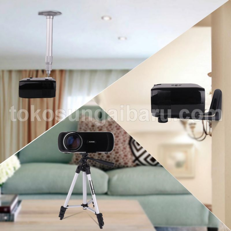 Everycom X7 Proyektor Mini LED 1800 Lumens 1080P with TV Receiver